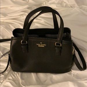 kate spade Bags - Kate Spade black and gold medium satchel
